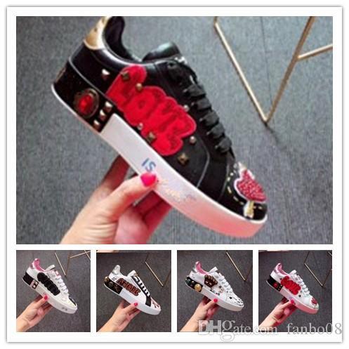 2019 new style brand sports shoes women Song Yi Di Li hot bar with the shoes hip hop graffiti banquet white shoes 1k21