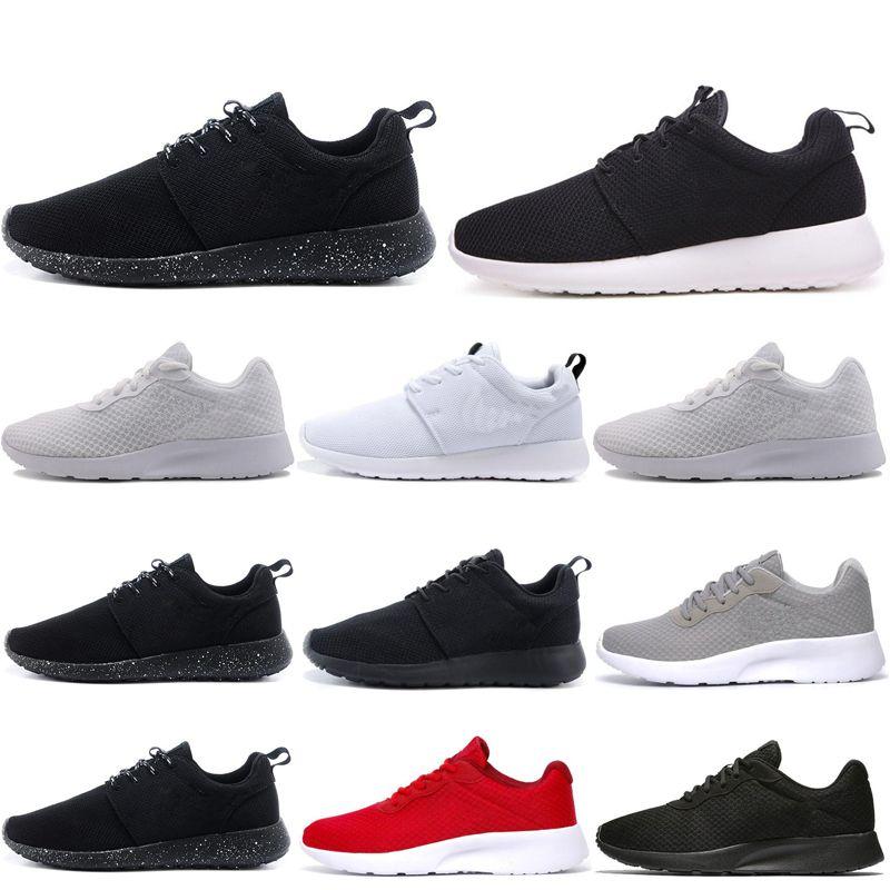 Tanjun Run кроссовки для мужчин женщин тройной белый черный олимпийский Лондон открытый мужской тренер спортивные кроссовки 36-45 бесплатная доставка