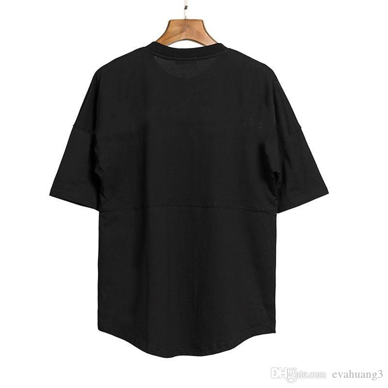뷰티 조수 ANGELS 큰 다시 인쇄 PALM 라운드 넥 반소매 T 셔츠의 남성과 여성 3 색