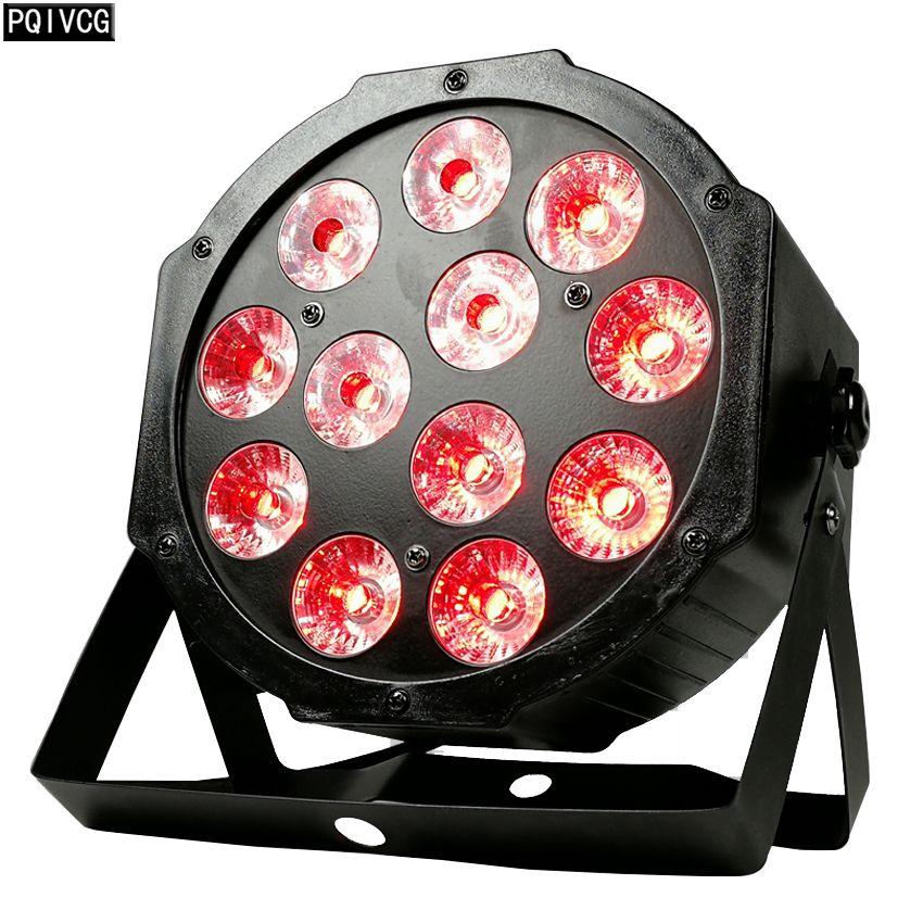 12x12w 12x18w led Par ışık RGBW / RGBWA UV 4in1 / 6in1 düz par led dmx512 disko ışık profesyonel sahne dj ekipmanları