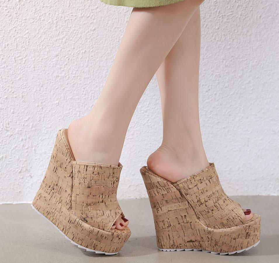Hot Sale Size 35 To 42 Beige Wooden