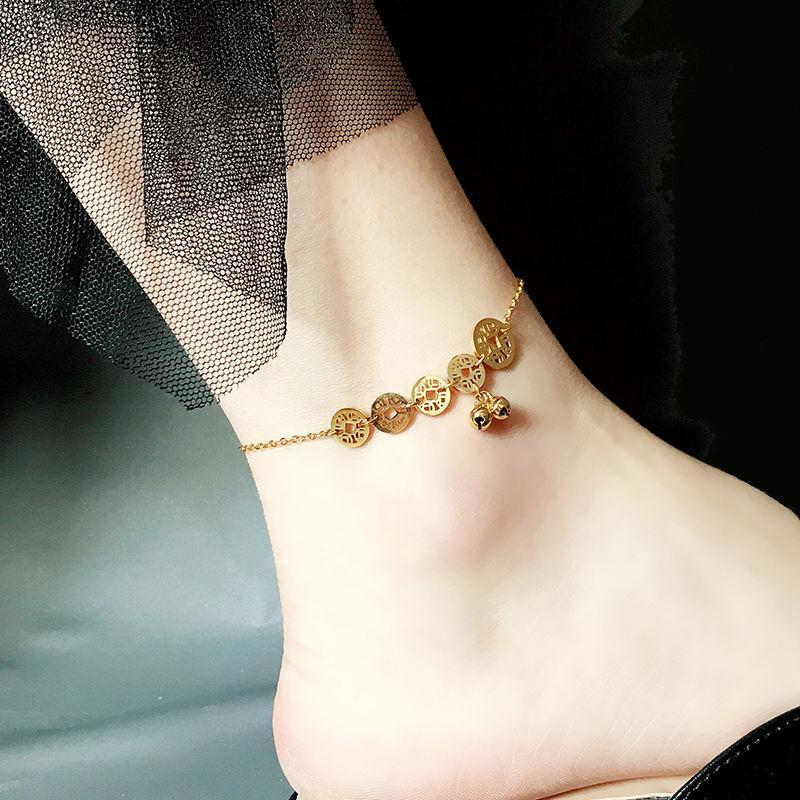 Kadın Kore Stili Basit ve Soğuk Bakır Halhal Bell Ins Kingson Serisi Xiaozhong Ağ Kırmızı Tide Sınırsız Para