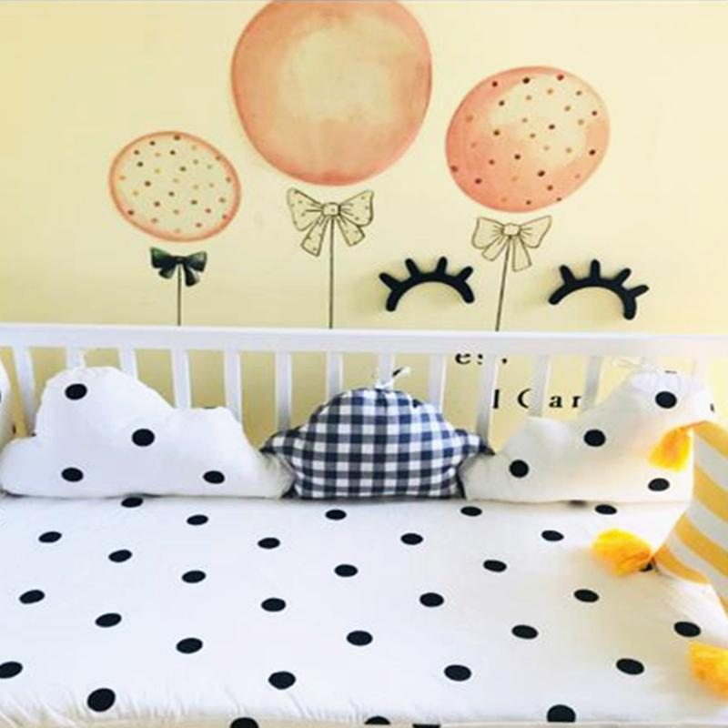 Forma del bebé pegatina de la nube de algodón recién nacidos cuna Protector de almohada Cuna decoración de la habitación infantil Almohada tope del pesebre del lecho