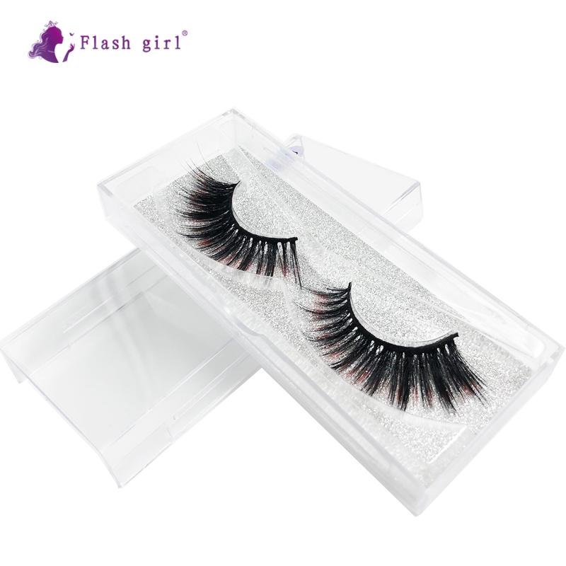 Wholesale E-13 high quality The Newest 1 pairs colorful handmade 3D Mink Eyelash vendor Wholesale Eyelashes custom Private Label