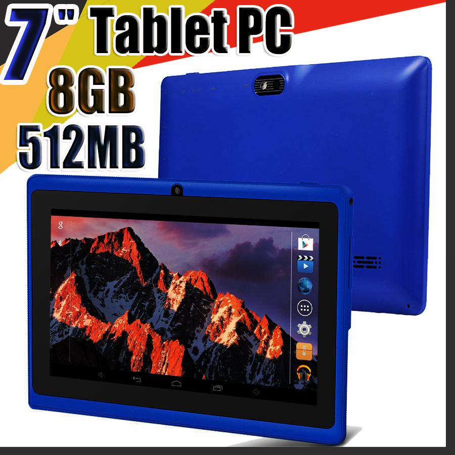 """848 Allwinner A33 Quad Core Q88 Tablet PC Dual Camera 7"""" 7 inch capacitive screen Android 4.4 512MB 8GB Wifi Google play store flash C-7PB"""