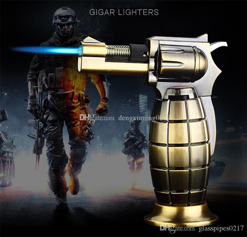 Grenade forme butane gaz torche cigarette allume-cigare Rechargeable Cuisine briquet BBQ outil de bricolage fumeur dhl gratuit