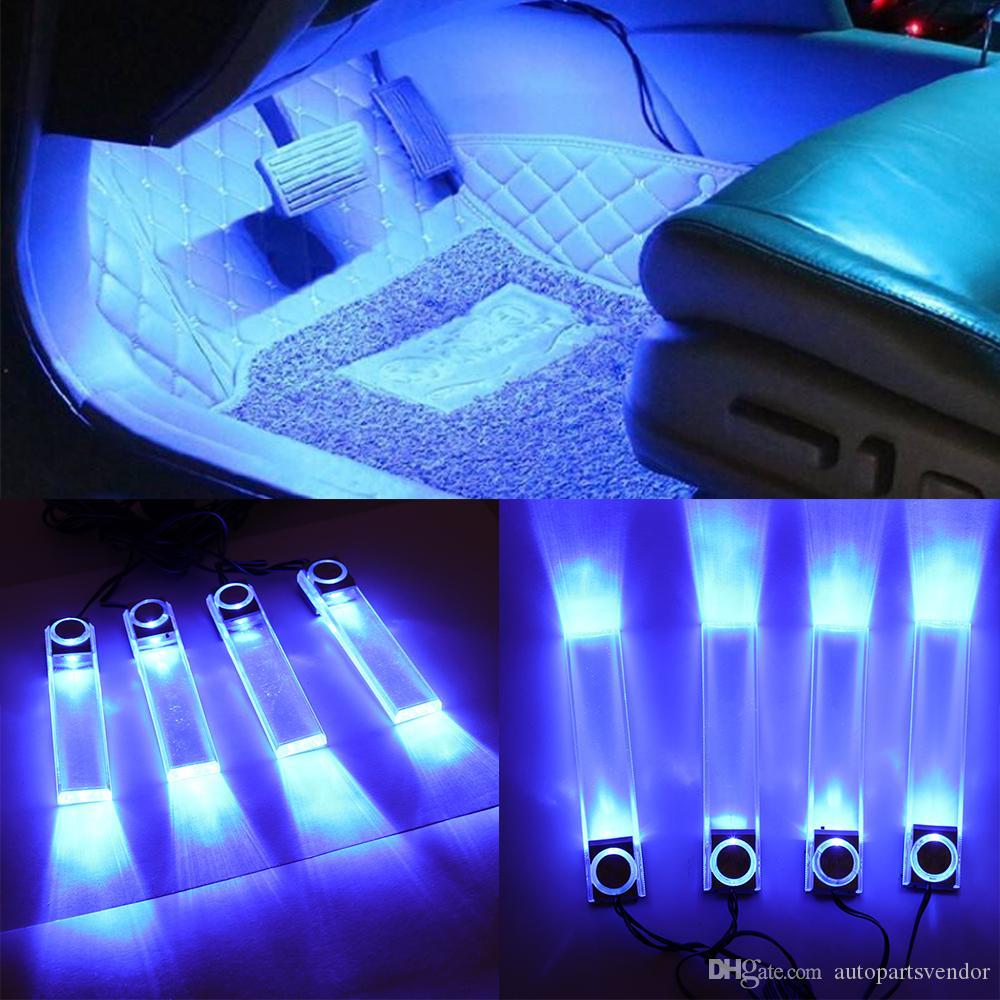 로맨틱 한 액세서리 스타일링 스트립 장식 층 멀티 사용 Led 빛 자동 분위기 자동차 인테리어 DIY 야간 조명 쉬운 설치