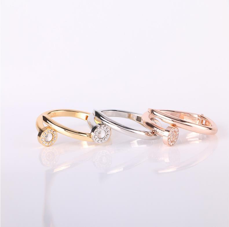 , Or rose clou Bracelet Boutique européens et américains Fashion Bracelet à vis en métal diamant clou Bracelet