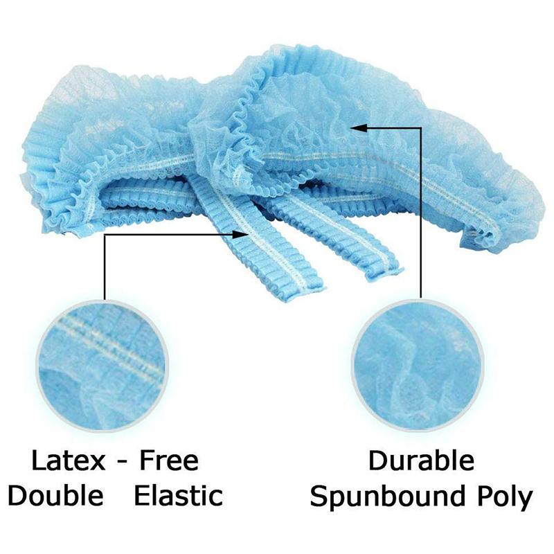Hot KF-100 PCS-21 polegadas- descartável Hairnets Cap Cabelo Nets cabelo cobre a cabeça tampas capotas líquidas de serviço, cozinha,