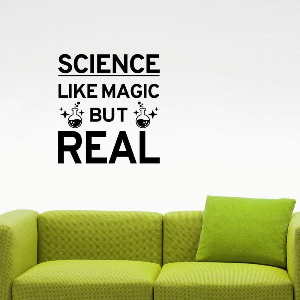 Ciência como mágica Mas Citar real Decalque Estudo Saiba Química Inspirado vinil adesivo Art School Decor Sala de Aula