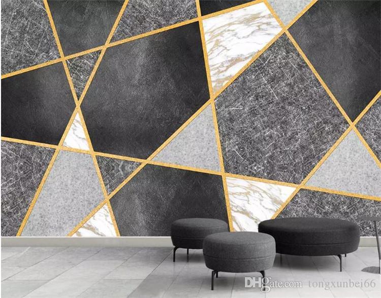 사용자 정의 3D 사진 벽지 현대 간단한 크리 에이 티브 아트 기하학 짚 질감 된 TV 배경 벽 장식 그림 벽지