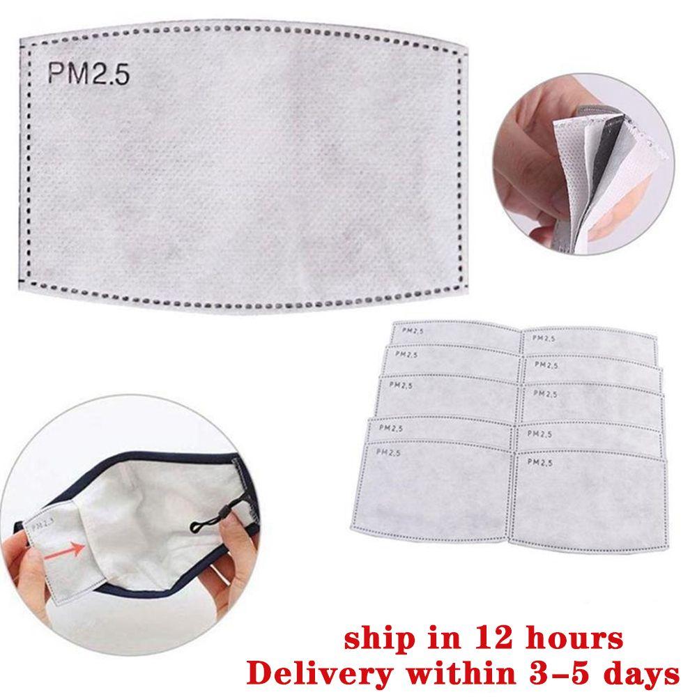 P2,5 jetable Masque Pad Masques face 5 Couche de protection de remplacement Pad Masque plaquette intérieure Joint Replacement Filter Pads Respirateur Masque Filtrer