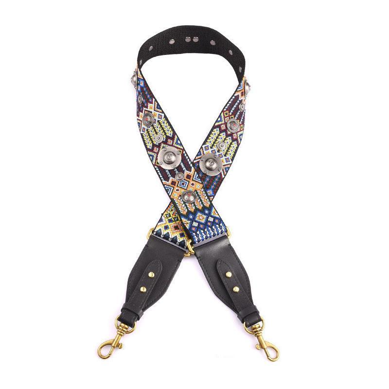 ضبط الجديدة برشام تصميم المرأة حقيبة الشريط مقبض للحقائب سيدة حزام الكتف عصري قماش أحزمة A0022 CJ191219