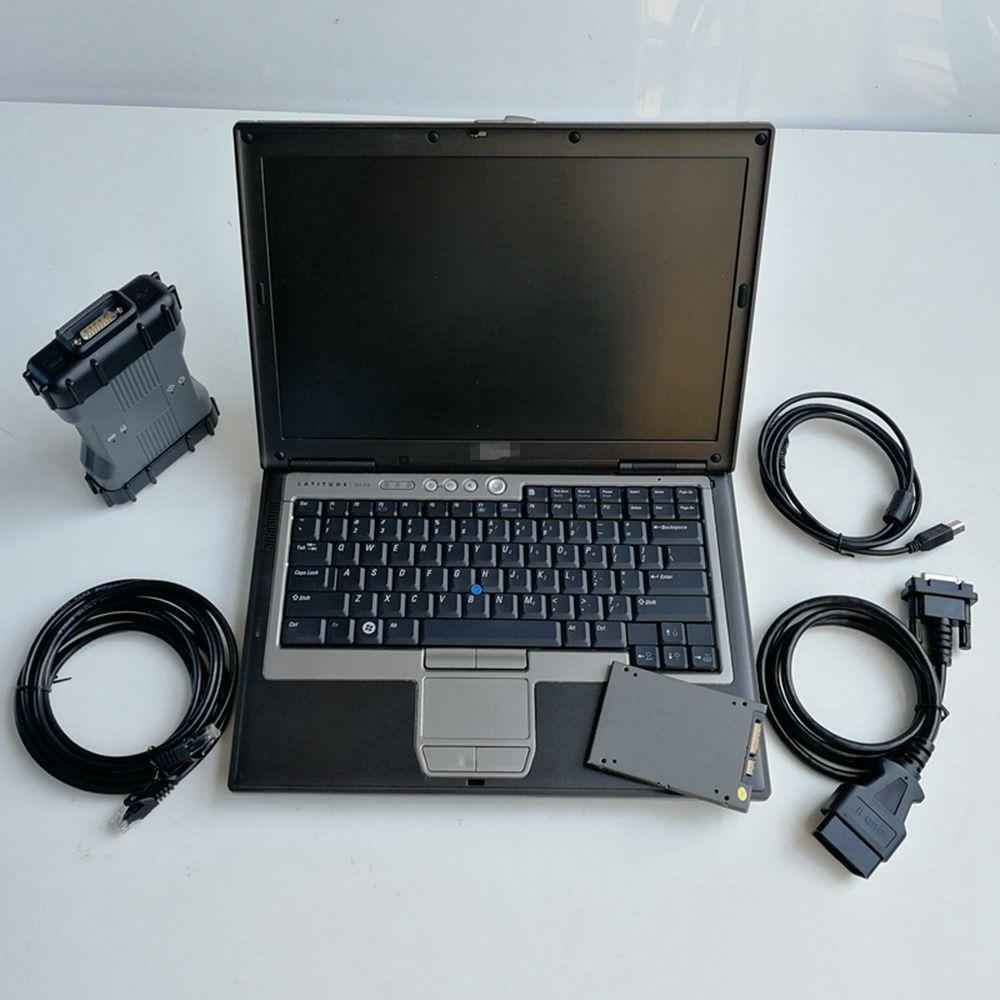Автоматический диагноз Инструмент MB Star C6 VCI 6 X-ввод Doip с использоваемым ноутбуком D630 Диагностический мультиплексор Soft-Ware V06.2021