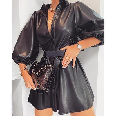 Fashion Herbst und Winter Frauen Einreiher beiläufige Kleider, nicht mit der Taille Schärpen, Dame und Mädchen Taille Schluss Rock