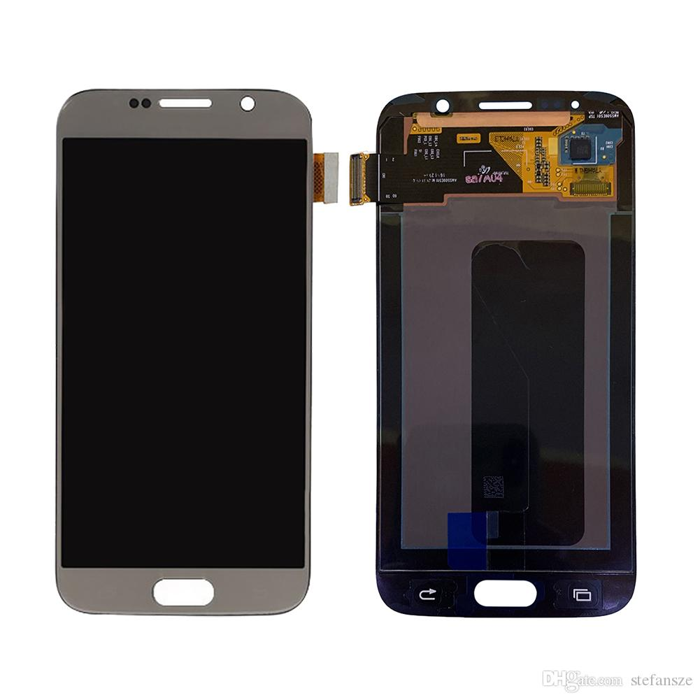 Original Mobile Phone LCD Display Touch Screen Digitizer for Samsung Galaxy S6 G920F G920A LCD Replacements