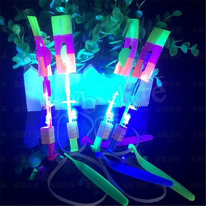 Led Flying Light Toy Arrow Flash Helicopter Flying Eitting baby Toys Outdoors Kid Game Party MMA2531-B1