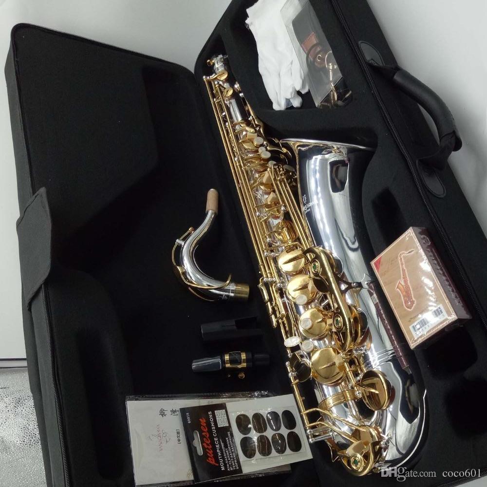 Тенор-саксофон Новый YANAGISAWA T-WO37 никелированный золотой ключ саксофон профессиональный мундштук патчи колодки язычки согнуть шею с чехлом