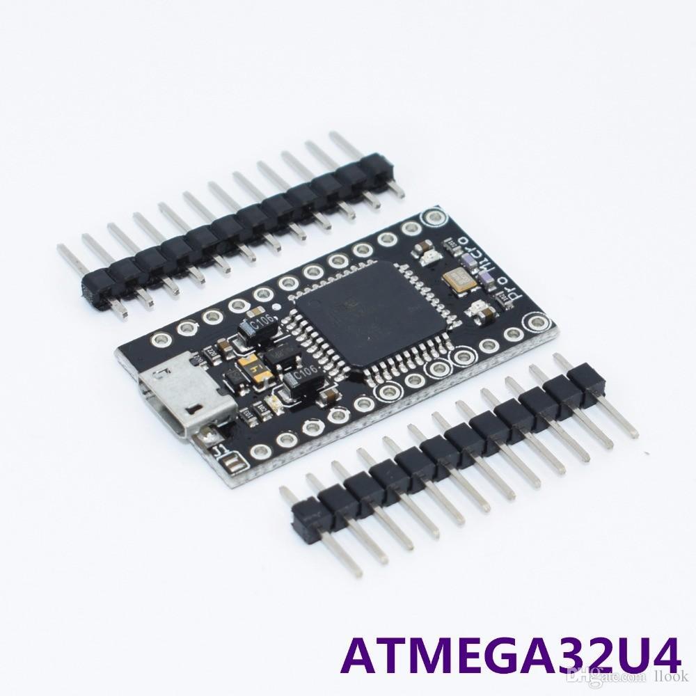Бесплатная доставка 10 шт. Робот с загрузчиком Новый Pro Micro ATmega32U4 5 В / 16 МГц Модуль ATMEGA32U4-AU