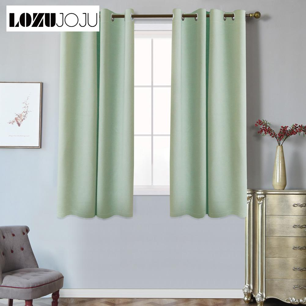 2019 For Living Room Bedroom Window Ready Made Short Blackout Curtains  Grommet Top Treatments Kitchen Modern Design Curtains From Adeir, $27.45 |  ...