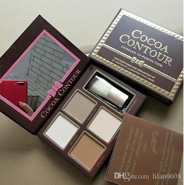 CACAO Contour Evidenziatori tavolozza di colori nude estetiche faccia correttore ombretto cioccolato con Advanced Notte Repaire DHL