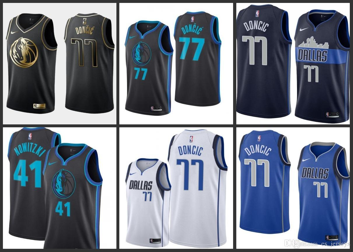 2020 2019 20 Season Dallas Mavericks NBA Jerseys 41 Dirk Nowitzki