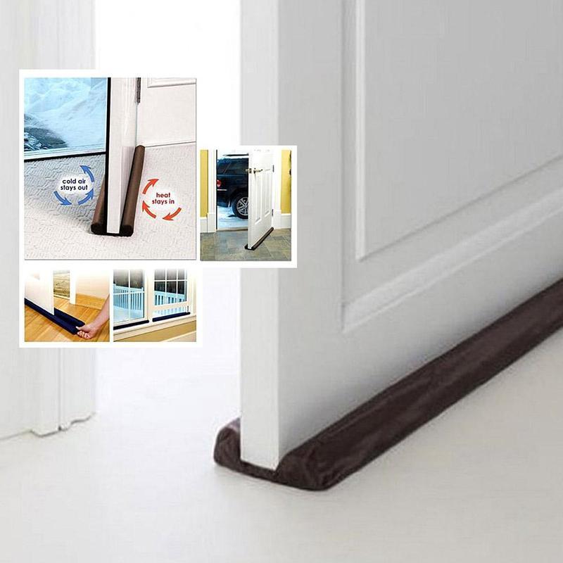 1PC Door Stalls Stopper Energy Saving Protector Doorstop Door Window Dust Resisted Sash Stopper Cleaning Strip