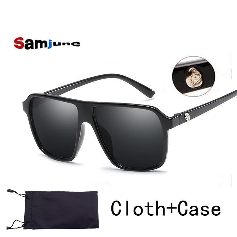 Marka Steampunk çerçeve KAFATASI Kare erkek Güneş gözlüğü Erkekler Tüm Siyah erkekler Kadınlar güneş gözlüğü için büyük güneş gözlükleri boy art Retro