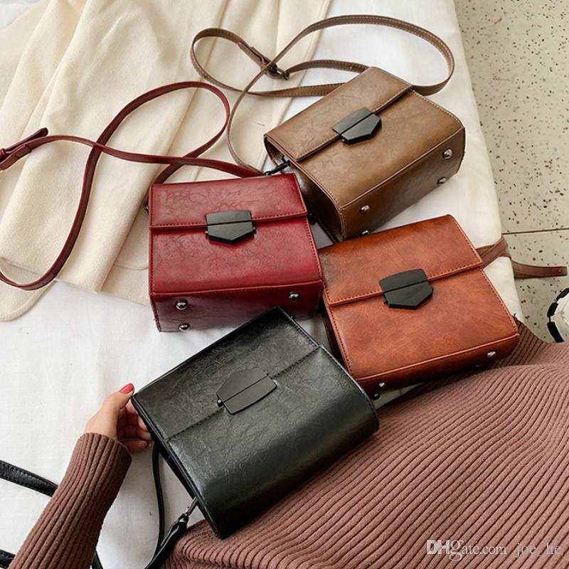 Designer-Frauen-Handtasche 2019 neue Entwerfer-Mode-Kette Umhängetasche Messenger Bag einfache Weinlese-kleine quadratische Umhängetasche