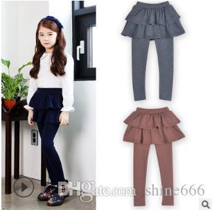Girls Skirt Pants Autumn 2019 New Spring Girls Leggings with Skirt Girls Clothes Children Kids Trousers Leggings Pants for Girl