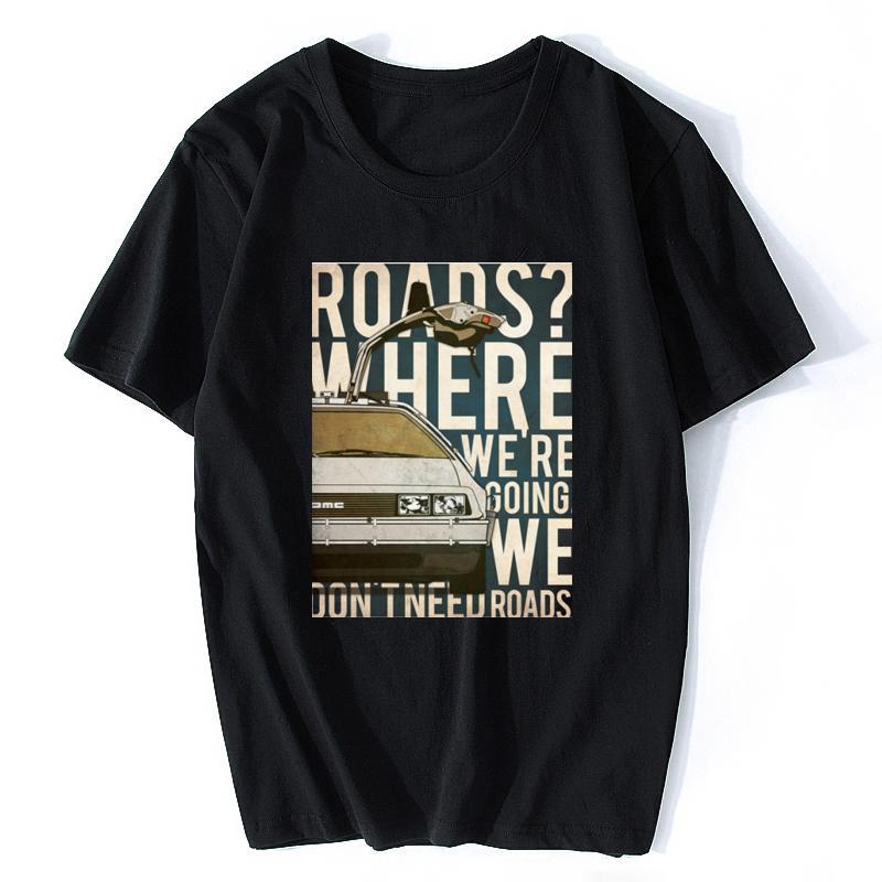 جديد Back to the Future 88 MPH T-Shirt مارتي ماكفلي ديلوريان دوك براون هيل فالي تي شيرت
