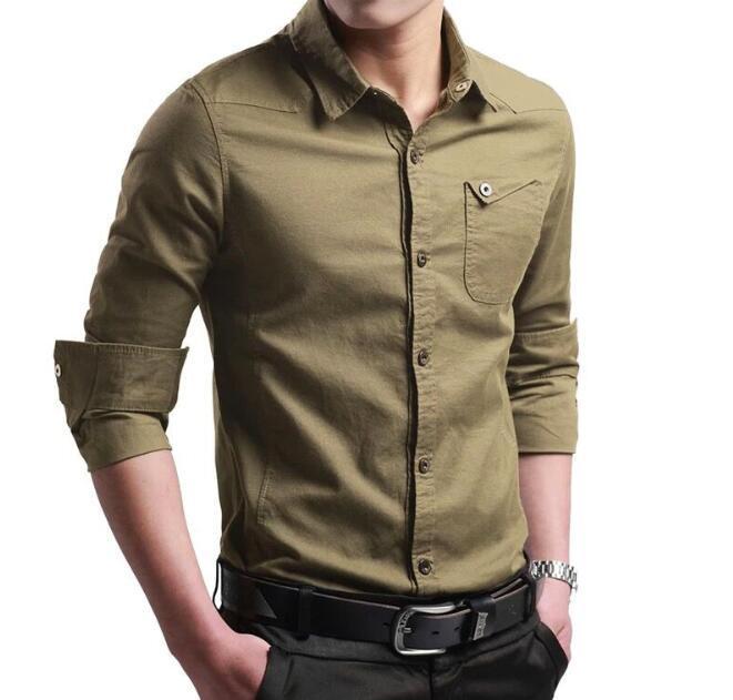 Erkek atlet Erkek Slim Fit Tasarımcı Gömlekler Moda İş Erkek Gömlek Uzun kollu Yaka Tops Standı