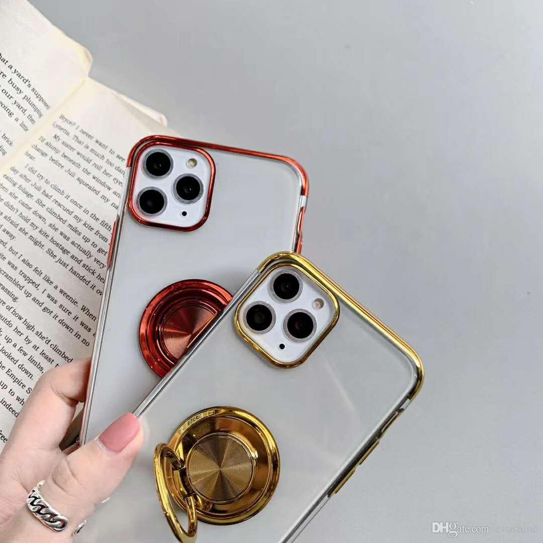 Free Shipping 2020 New Ultra Thin Electroplating Car Holder Phone Case For Iphone 11 Pro Max