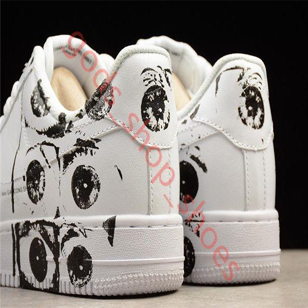 Dolce & Gabbana  TOP SUP CDG 농구 화이트 블랙 남성 여성 스케이트 보드 신발 캐주얼 스니커즈 선도 독특한 디자이너 패션 신발
