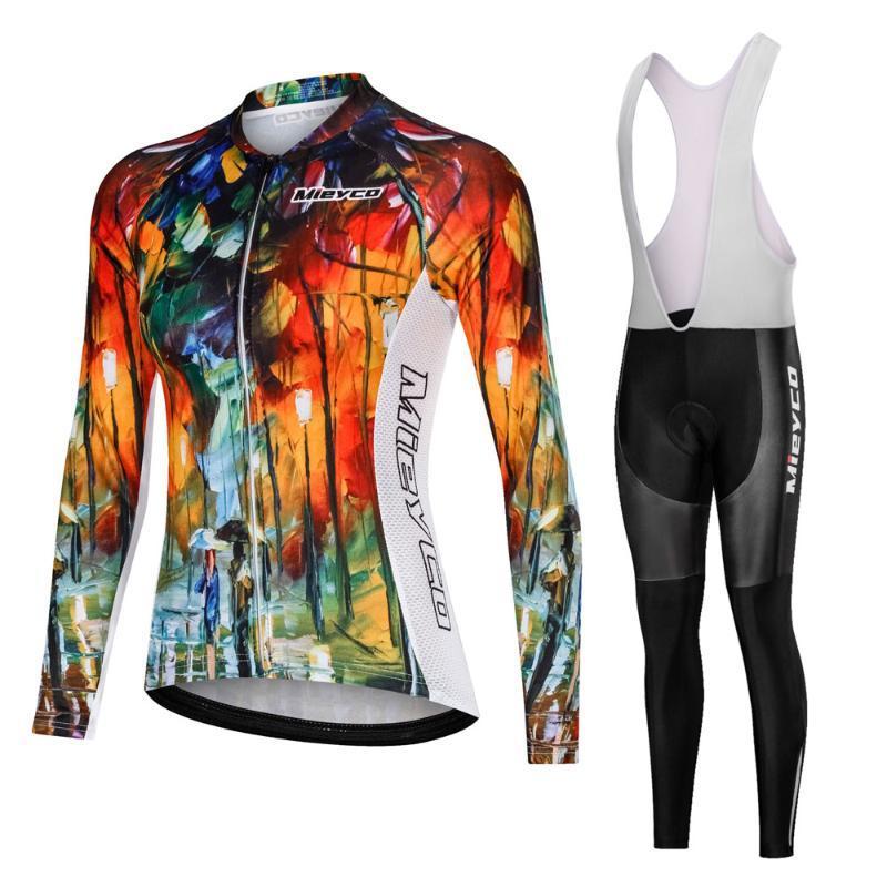Pro Team 2020 Divertente ciclismo maglia set lungo Vestiti di riciclaggio del vestito femminile MTB Mountain Bike Abbigliamento Abbigliamento da corsa in bicicletta il vestito