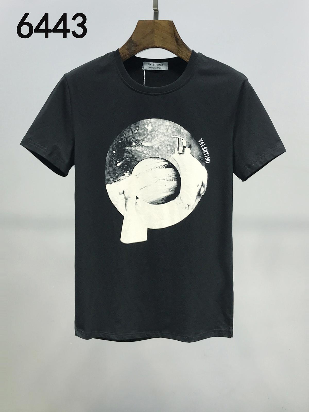 2020 desgaste exquisito de los hombres del verano del estilo masculino tendencia Inglés impresión de la letra del algodón puro manga corta camiseta 11283 grande