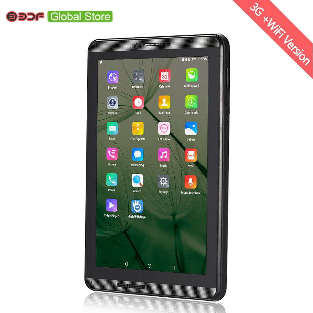 7 Inch 3G Phone Call Quad Core Android 6.0 Tablets 1GB RAM+16GB Rom SIM Card Mobile Phone Tablet Pc Metal aluminum