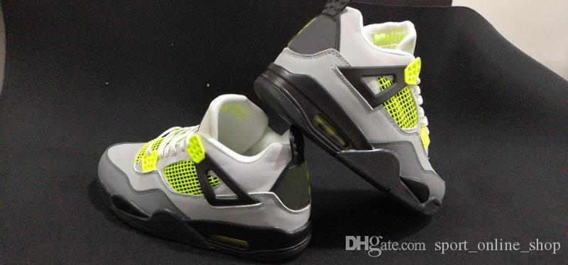 Chaussures Shoe New Neon Shoes 2019 Des Baskets Designer Trainers From Cool Size Mens 7 13 Le Basketball Sports Sneakers Grey 4s hxBQdtrCs