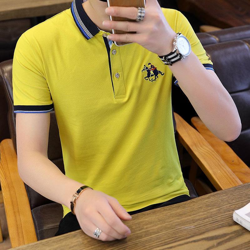 The New Korean Style Mens Short Sleeve Polo Tshirt and Half Sleeve Summer Tshirt
