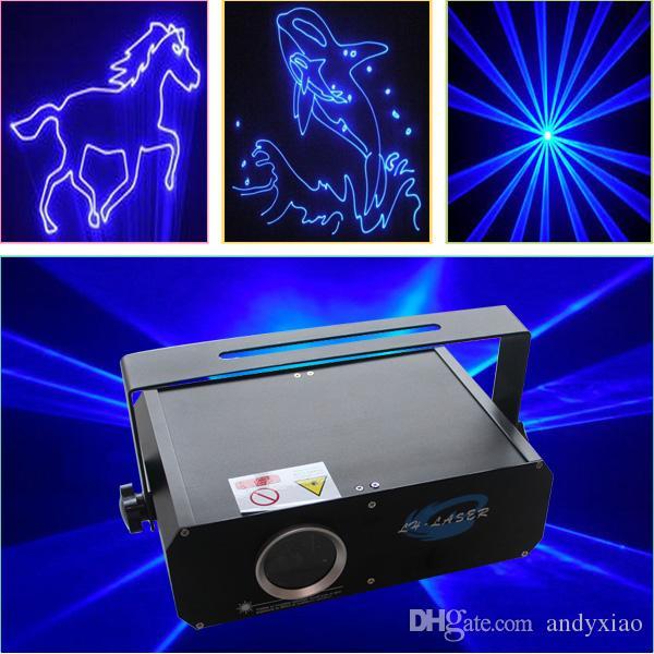 2000MW 단일 블루 컬러 레이저 조명 DMX 파티 쇼 Systerm 프로젝터 빔 디스코 빛 SD 카드