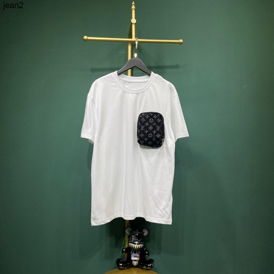 Yaz yeni moda kadın kısa kollu pamuklu tişört gündelik giyim kovboy cep 040504