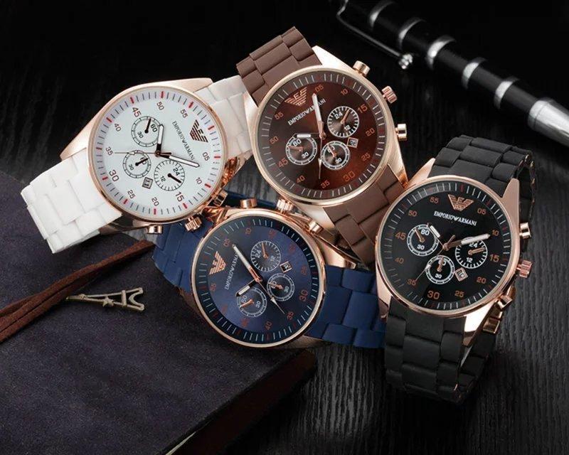 Moda Carreras Deporte de relojes para hombres Tres Ojos multifunción Brown Dial waches luminoso superior de la marca hombre relojes de cuarzo-reloj