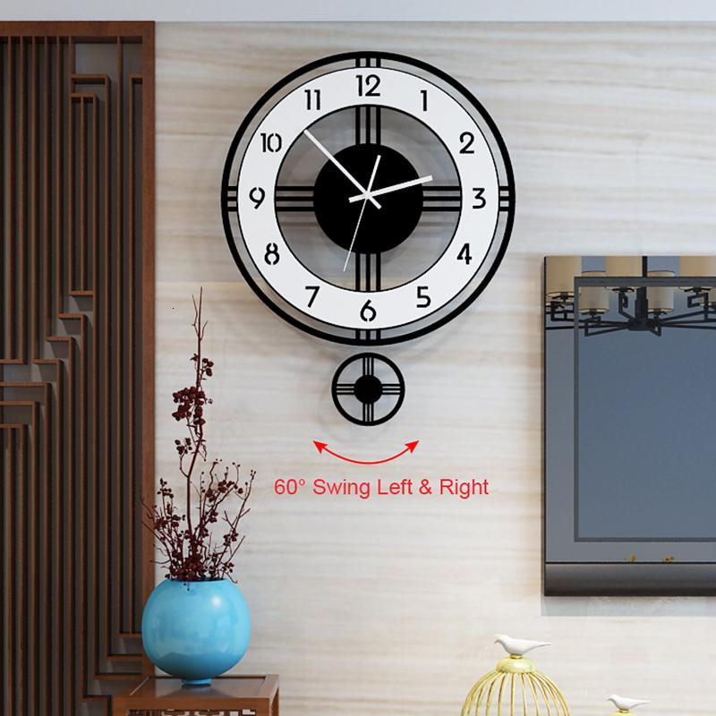 Silent Pendulum Large Wall Clock Modern Design Battery Operate Quartz Hanging Clock Home Decor Kitchen Wall Watch Cj191214 Oversized Wall Clocks For Sale Oversized Wall Clocks Modern From Quan09 29 84 Dhgate Com