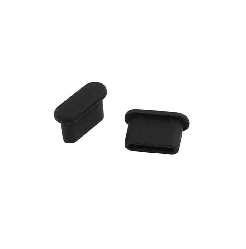 USB-Ladeanschluss Typ C-Staub-Stecker-Ladeanschluss 100 Stück Silikon-Abdeckung