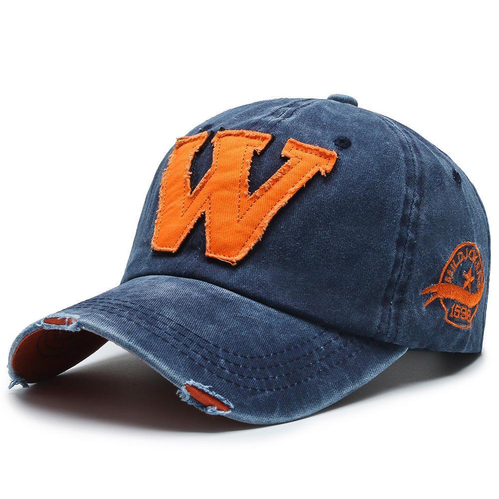 2020 resorte y el verano de la nueva letra W salvaje gorra de béisbol de los hombres y las mujeres de tendencia Hip Hop Sombrero pares de la manera sombrero al aire libre Deportes aRIVg