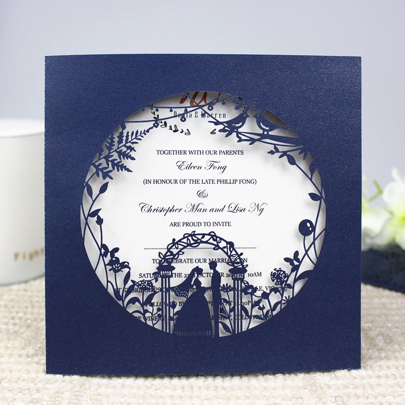 حار بيع قص الليزر دعوة زفاف لؤلؤة سوينغ حقيبة دعوة زفاف دعوة زفاف معطف