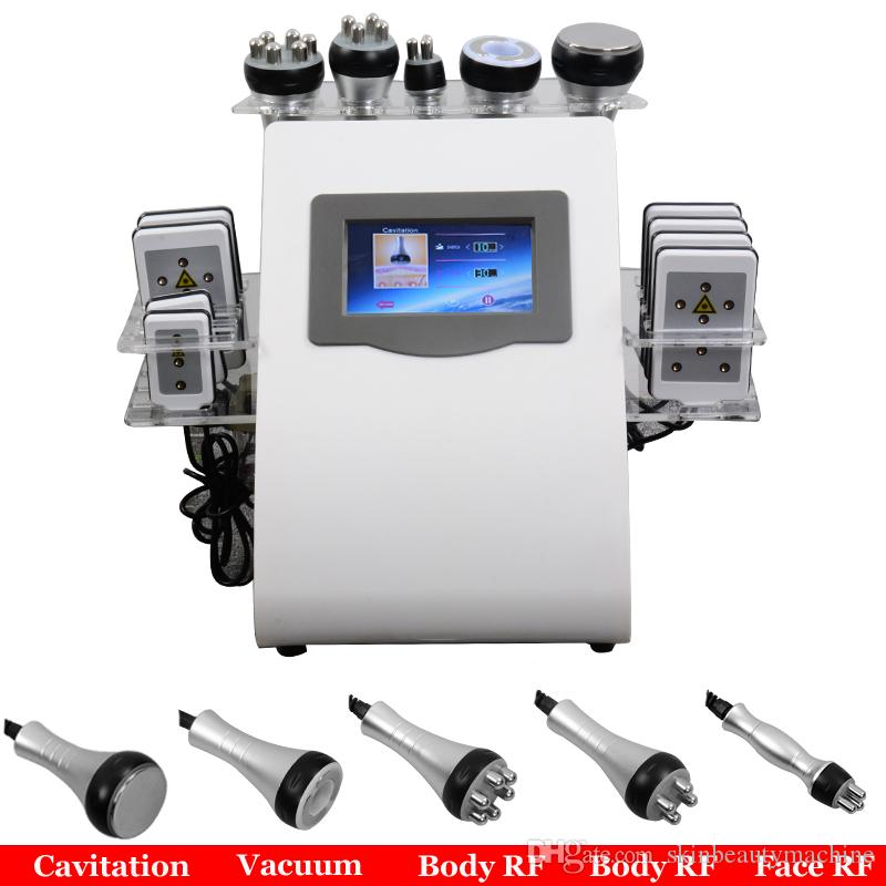 6 IN 1 Ultraschall Lipo Kavitation Maschine 40kHz Ultraschall Fat Kavitation Laser Cavi Lipo Abnehmen Body Contouring Spa-Salon-Ausrüstung