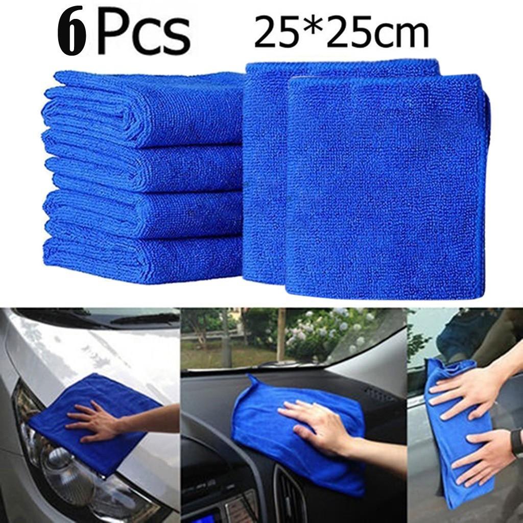 microfibra Materiale 6Pcs Nuova panni di pulizia Duster microfibra Car Wash asciugamano Cura Manutenzione auto morbido grande capacità assorbente