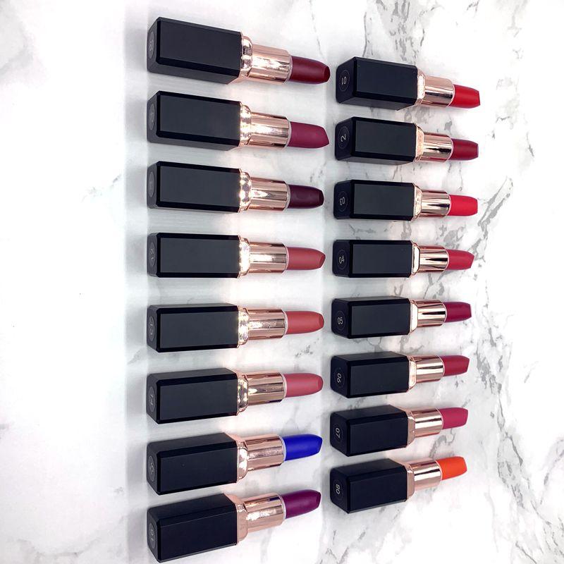 pas de logo 16 couleur lipgloss mat rouge à lèvres mat longue lèvres durable maquillage aimant le tube d'adsorption design de haute qualité accepte logo personnalisé