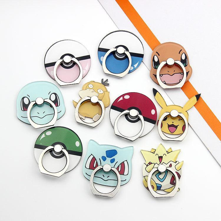 Telefone celular anel Buckle Levante Bracket dos desenhos animados Anime preguiçoso Universal Mobile Phone Stand Holder Acessórios 10 Styles Telefone
